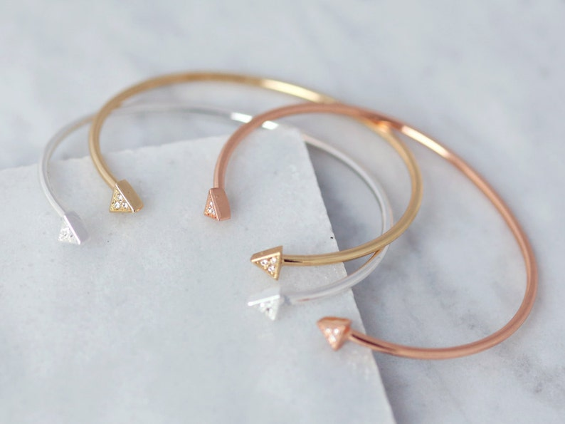 Simple Bracelet Wedding Jewellery Simple Bracelet Delicate Bracelet Dainty Jewellery Stackable Bangles Mature Jewellery
