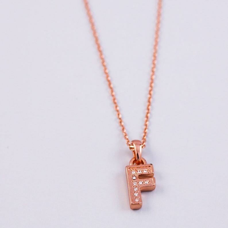 616e7b00b JINBAOYING Gold Initial Pendant Necklace 14K Gold Plated Disc Engraved 18