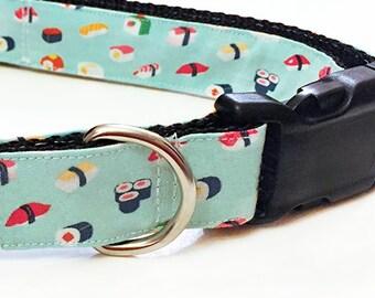 Sushi Buffet! - Handmade MARTINGALE or BUCKLE dog collar