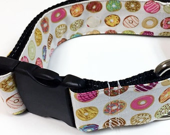 Donuts! - Handmade MARTINGALE or BUCKLE dog collar