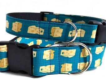 Cheese, Please! - Handmade MARTINGALE or BUCKLE dog collar