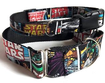 Star Wars! - Handmade MARTINGALE or BUCKLE dog collar