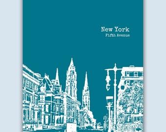 New York Print, New York Wall Art, Wedding Gift, New York Art Print, New York Poster,  New York Decor, Engagement Gift, New York Gift
