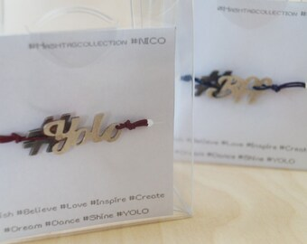 The hashtag collection sterling silver charm bracelets
