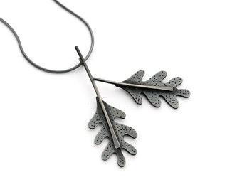 Oak leaf pendant