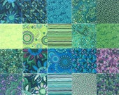 Boundless Rhapsody Green Charm Pack of 42 - 5 inch fabric
