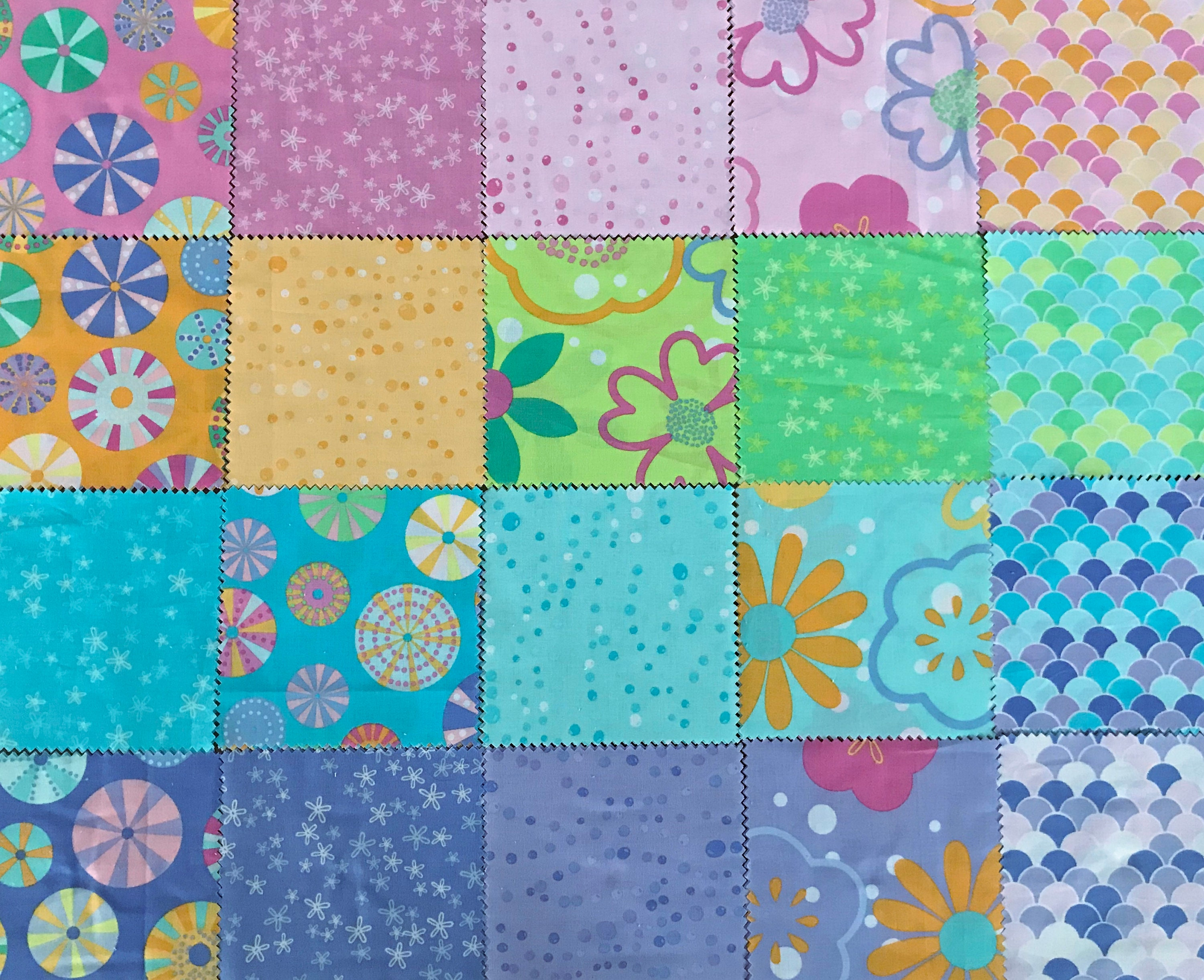 """30 x Luscious Lilac 5/"""" Fabric Patchwork Squares Pieces Charm Pack Purple"""