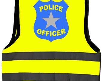 7586ed89 Police Officer Baby/Children/Kids Hi Vis Safety Jacket/Vest Sizes 0 to 8  Years Optional Personalised On Front