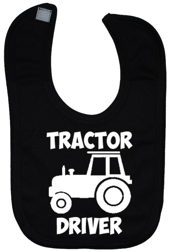 Drible Babero Bandana Tractor de felpa de todos los tamaños 0-3 años atrás