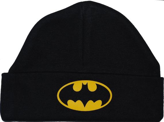 Gorro sombrero casquillo Batman 0-12 meses Unisex niño niña negro 3 tamaños  disponibles 29778114cf7