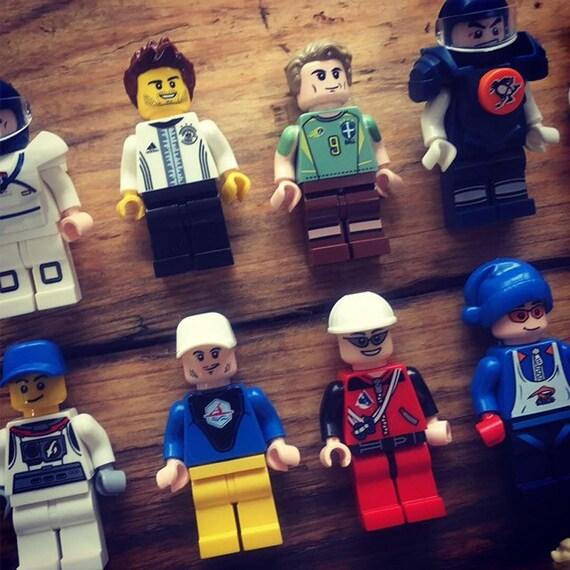 Basketball Tennis Brick Minifigures inc free /'Lego Go Create/' card Personalised Sports Player Greeting Card Birthday Football Baseball