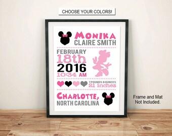 Mouse Birth Announcement Plaque