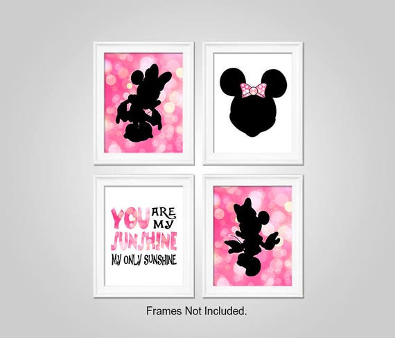 Minnie Mouse Bedroom Wall Art - Minnie Mouse Printable Wall Decor - Minnie  Mouse Wall Art - Printable Wall Art - Instant Download