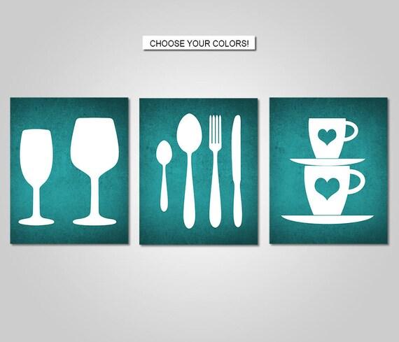 Kitchen Wall Art Decor Kitchen Utensils Wall Art Dining Etsy