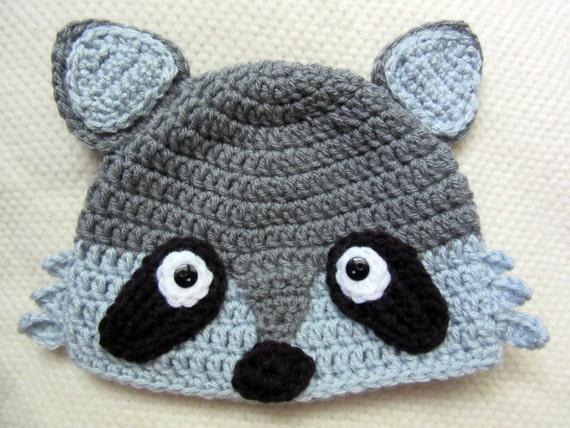 Waschbär-Hut für Neugeborenen Foto Prop Kleinkind zwischen | Etsy
