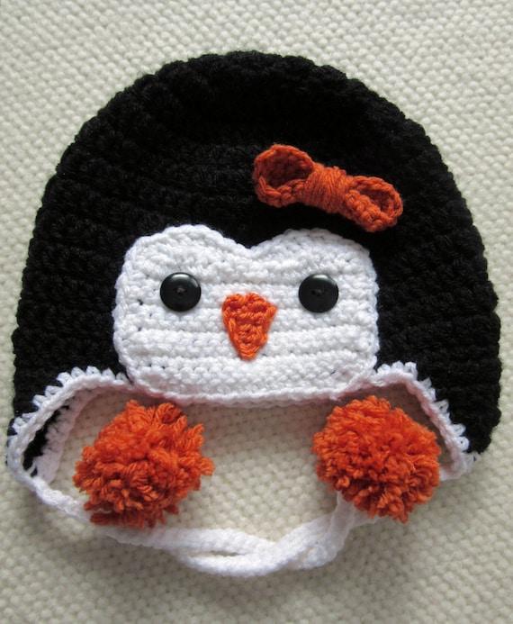 Häkelmütze Pinguin Tier Hüte Häkeln Kinder Mütze Junge Etsy