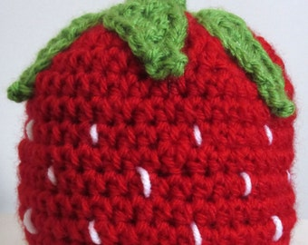 strawberry hat, kawaii hat, newborn photo prop, tween girl gifts, college student gift, crochet hat kids, best selling items, funny gifts