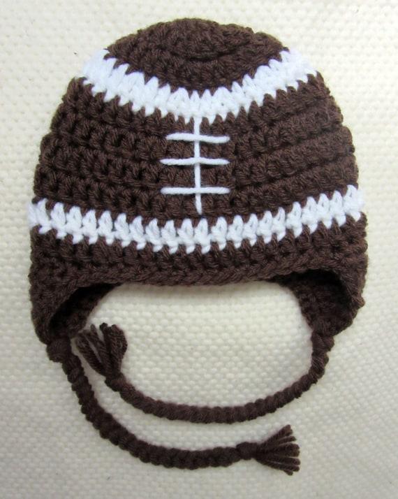 Crochet Football Hat Football Hat Crochet Hats For Kids Etsy
