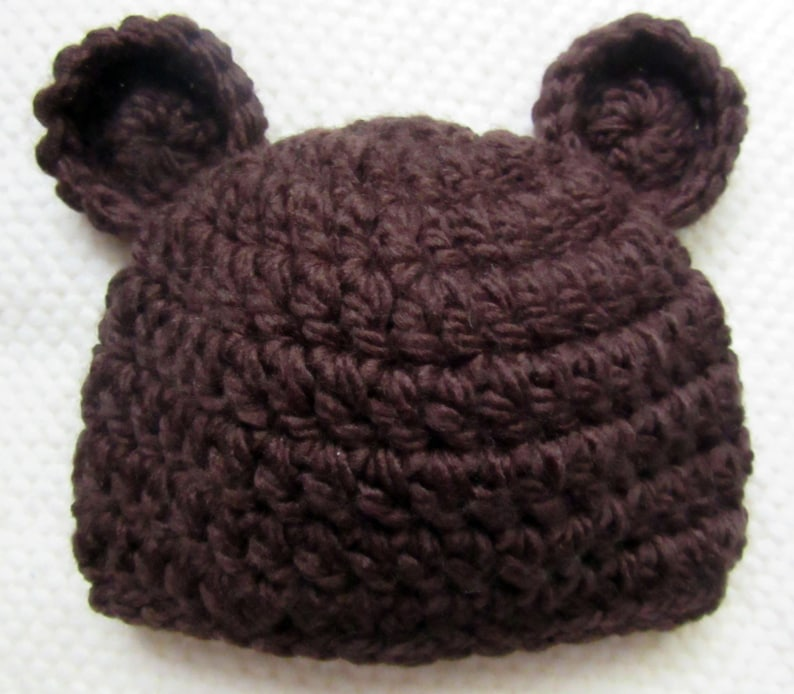 a8fd806629b Crochet Baby Bear Hat teddy bear baby shower brown bear