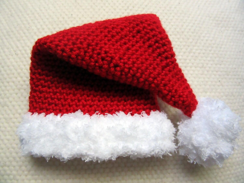054257dccd1bc Baby Santa hat babys first Christmas hat newborn photo prop