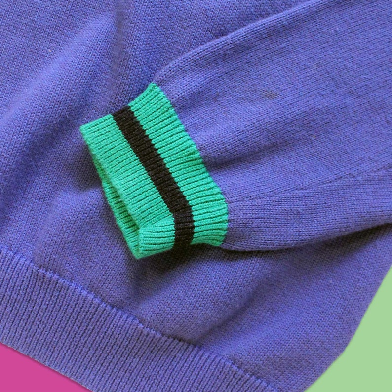 f31f0f1c9c0 Vintage Brooks brothers Two Color Pullover V-Neck Fleece Slim Fit Sweater -  Men's Size Medium/Large