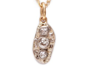 Diamond and Gold Nugget Necklace