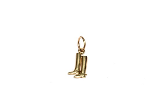 Gold Riding Boots Charm/Pendant