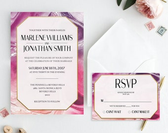 Marble Wedding Invitation, Printable Wedding Invitation, Marble Wedding Suite, Marble Wedding, Wedding Invitation, Wedding Suite