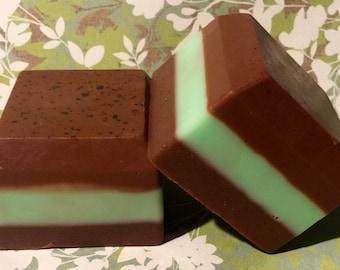 Chocolate Mint Goats Milk bar soap