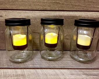 Gold Painted Mason Jar Make Up Brush Holder Bithday Party Etsy