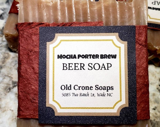 Featured listing image: Mocha Porter Brew Beer Soap