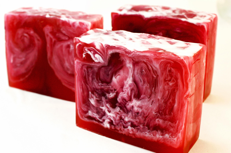 Refreshing Raspberry Glycerin Soap