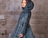 Luxury faux fur kids coat - astrakhan marengo. Exclusive eco furs by Tissavel (France)