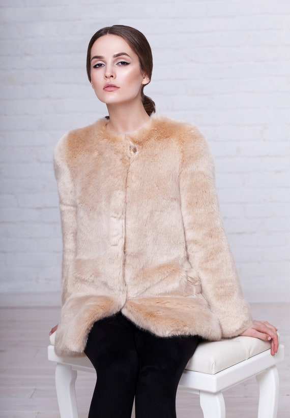 sable coat Fake winter onyx Coat fur Faux France Exclusive coat coats fur Women by fur Luxury fur fur Tissavel coat faux v8AOx