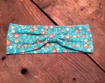 wife & child / headband / turquoise flower headband