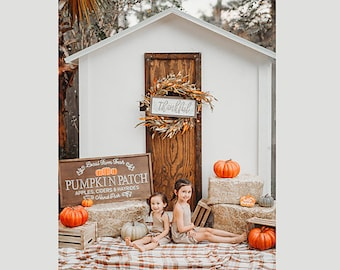Halloween Pumpkin Patch Fall Background, Outdoor Backdrops for Composites, PhotoShop Backdrops, Digital Backdrop, Photography Background