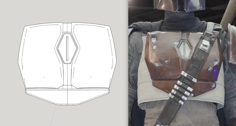 Mandalorian Inspired Chest Armor from Chapter 1-3 and Death image 0
