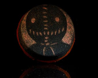 Trick R Treat Orange Creamsicle Scented Stencil Bath Bomb!