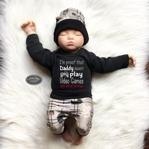 Gamer Baby Clothes Gamer Baby Baby Gaming Bodysuit Baby Boy Take home outfit Baby Boy Clothes Baby Bodysuit Baby Outfit Baby Boy