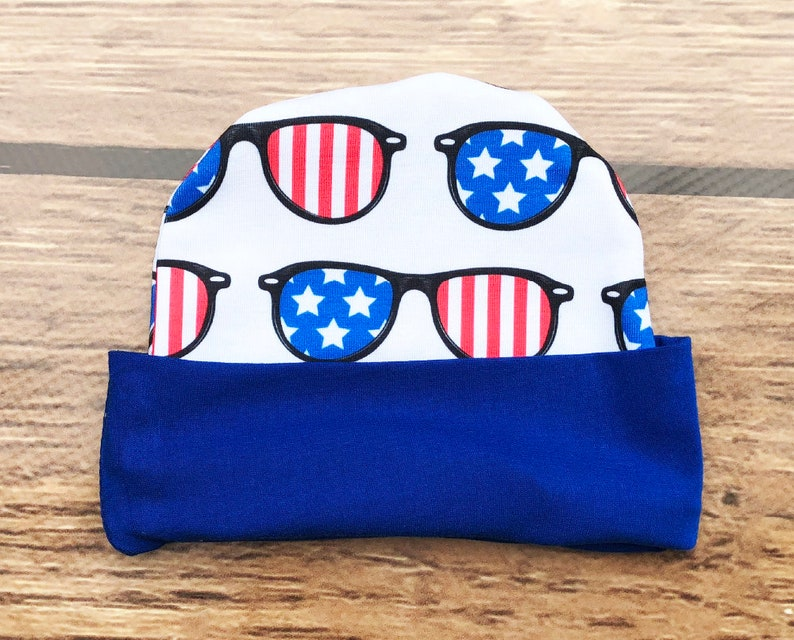 First 4th Baby Boy Baby Boys 4th Of July Outfit Hat and Bodysuit Red White And Blue Shorts With Sunglasses Fourth Of July Clothing