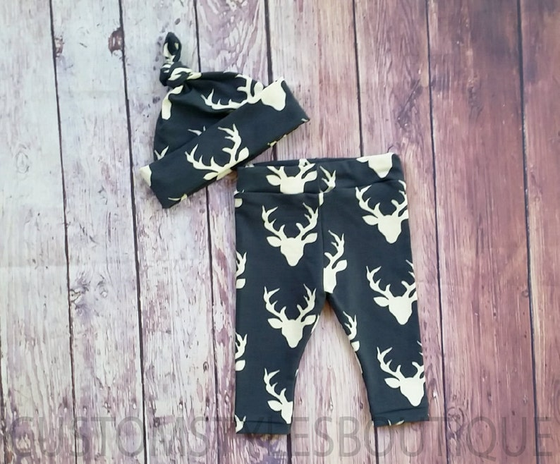 Baby Boy Country Outfit Set Baby Boy Coming Home Outfit Short Sleeve Infant Bodysuit Deer Leggings And Hat