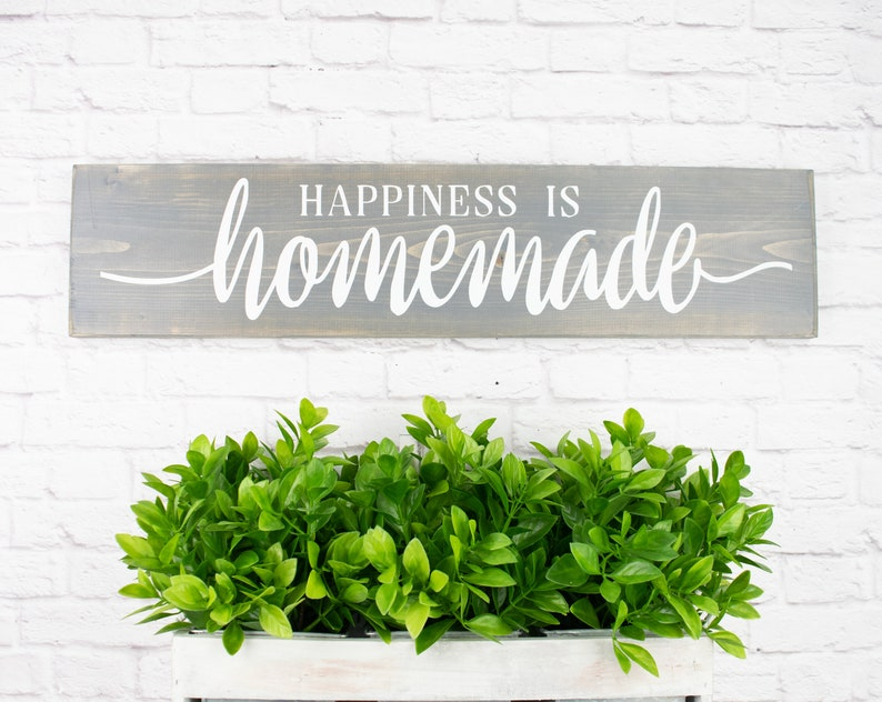 photo about Happiness is Homemade titled Joy Is Home made Picket Sayings Wall Décor Rustic Farmhouse Picket Indicators with quotations