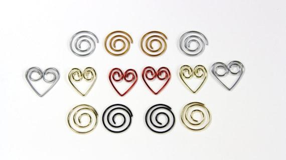100 Buroklammern Silber Gold Oder Rot Herz Buroklammern Etsy