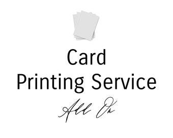 25 - Card Printing Service Add On | Invitation Printer | Card Printing Service | Invitation Template Printer
