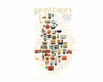 Broadway Theater Map | LARGE FORMAT