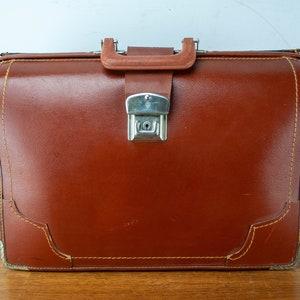 School Bag \u2013 Work Bag Laptop Bag Vintage Tan Burgundy Leather Briefcase Backpack