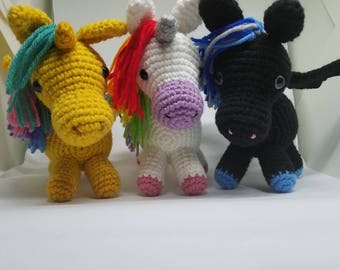 Crochet Amigurumi Unicorn - Pegasus - Alicorn