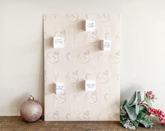 Alternative Advent Calendar   Paper Christmas Countdown   Positivity Calendar   Cute Xmas Decor   Novelty Advent Calendar for Adults