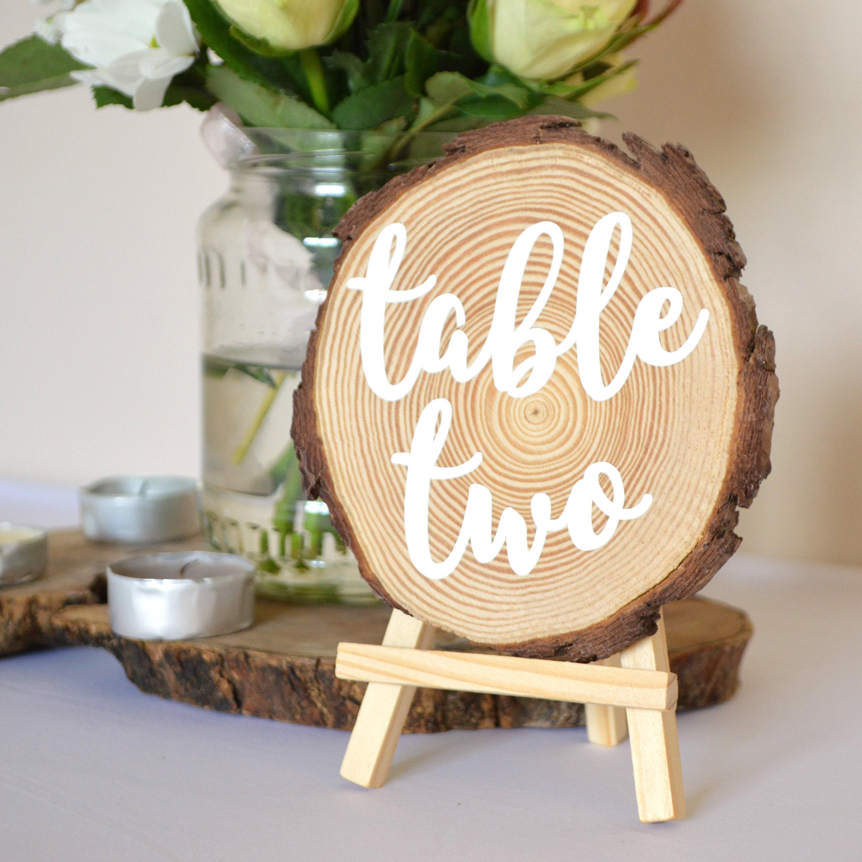 Wedding Table Numbers, Log Slice, Centrepiece, Rustic Wedding, Woodland Wedding,