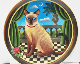 Anna Perenna Collector Plate - Princess Aurora Queen of the Night - Uncle Tads Cats - number 42   signed on back